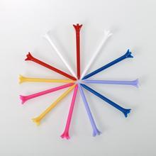 Новый 100 шт.% 2Fpack Golf тройники высокое качество нулевое трение 5 зубец 83 мм пластик гольф тройники смешанные цвет свет и экологичность дружелюбие