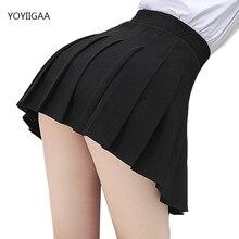 Without Shorts Women Skirts High Waist A-Line Woman Pleated Skirt Summer Fashion Female Mini Skirts Harajuku Ladies Short Skirt