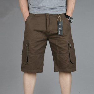 Image 5 - Cargo Shorts Men Summer Casual Mulit Pocket Shorts 2020 Men Joggers Shorts Trousers Men Breathable Big Tall 42 44 46 Large Size
