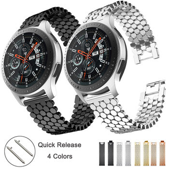 22mm Stainless Steel Watch band Strap For Amazfit Pace Stratos Samsung Gear S3 Classic Frontier Galaxy 46mm Band Bracelet Link stainless steel strap for samsung galaxy watch band 46mm gear s3 frontier classic straps bracelet 22mm wrist replacement band