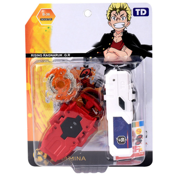 Gyroscope Metal Fusion with Launcher Bey Blade Burst Toys for Children Gyro with Launcher in Package недорого