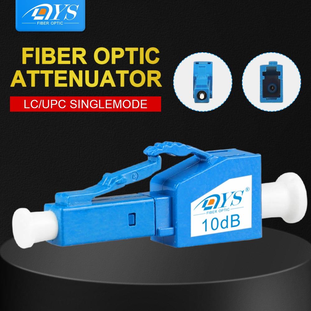 10pcs LC/UPC Single Mode Male-Female Plug-in fixed Fiber Optic Attenuator plastic FTTH Fiber Attenuator Adapter