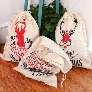 Image 2 - Grande tamanho sacos de natal santa sacos feliz natal natal festa feliz ano novo feriado diy decorações favor presentes sacos