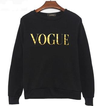 Γυναικείο Επώνυμο Χειμωνιάτικο Φθινοπωρινό Πουλόβερ VOGUE Τεχνολογίας Ψηφιακής πλέξης Γυναικείες Μπλούζες Ρούχα MSOW