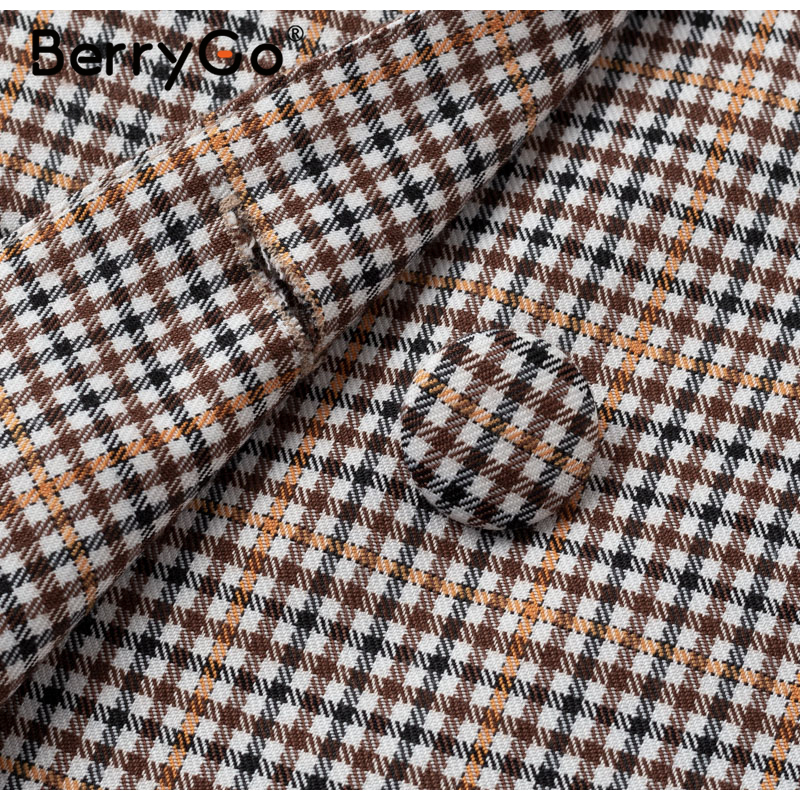 Hf01bf385698a4717b8b8fcf382f64b31s - BerryGo Womens business suit plaid pant suits female Office ladies double breasted ladies suits Spring two-piece blazer suit set