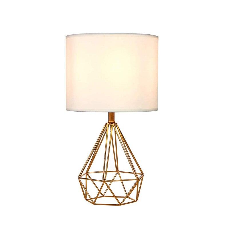 Современный прикроватный столик для спальни, лампа с абажуром для гостиной, лофт, персональный офис, журнальные столы, светодиодные светиль...