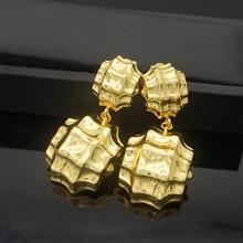 Медные висячие серьги золотого цвета длинные серьги для женщин модные ювелирные изделия подарок матери
