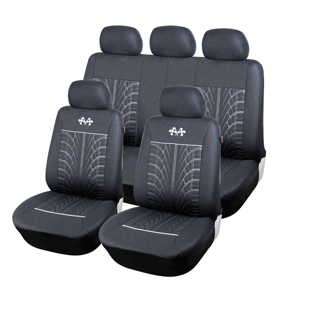 1set/9pcs Sports car seat cover Universal most brands car seat car seat protector internal accessories black gray seat cover
