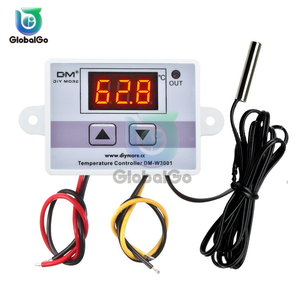 XH-W3001 W3001 LED Digital Thermoregulator Temperature Tester Smart Thermostat Sensor Controller Relay Output