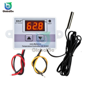 цены XH-W3001 W3001 LED Digital Thermoregulator Temperature Tester Smart Thermostat Temperature Sensor Controller Relay Output