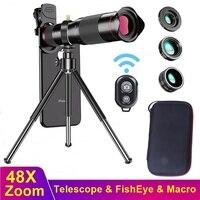 Tongdaytech 48X telefon Zoom obiektyw przenośny aparat makro obiektywy dla Iphone 12 11 Pro Max Samsung Xiaomi ryby oczy obiektyw do telefonu