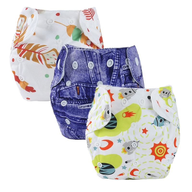 1Pcs Baby Diapers Children Newborn Cloth Diaper Reusable Nappies Baby Adjustable Diaper Cover Washable Nappy Changing