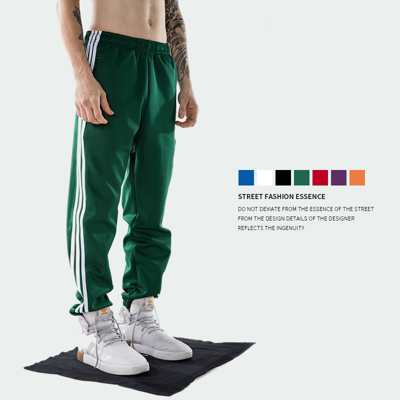 2018 Europe And America Popular Brand Spring And Autumn New Style Men'S Wear Classic Three Bars MEN'S Sports Trousers Casual Pan