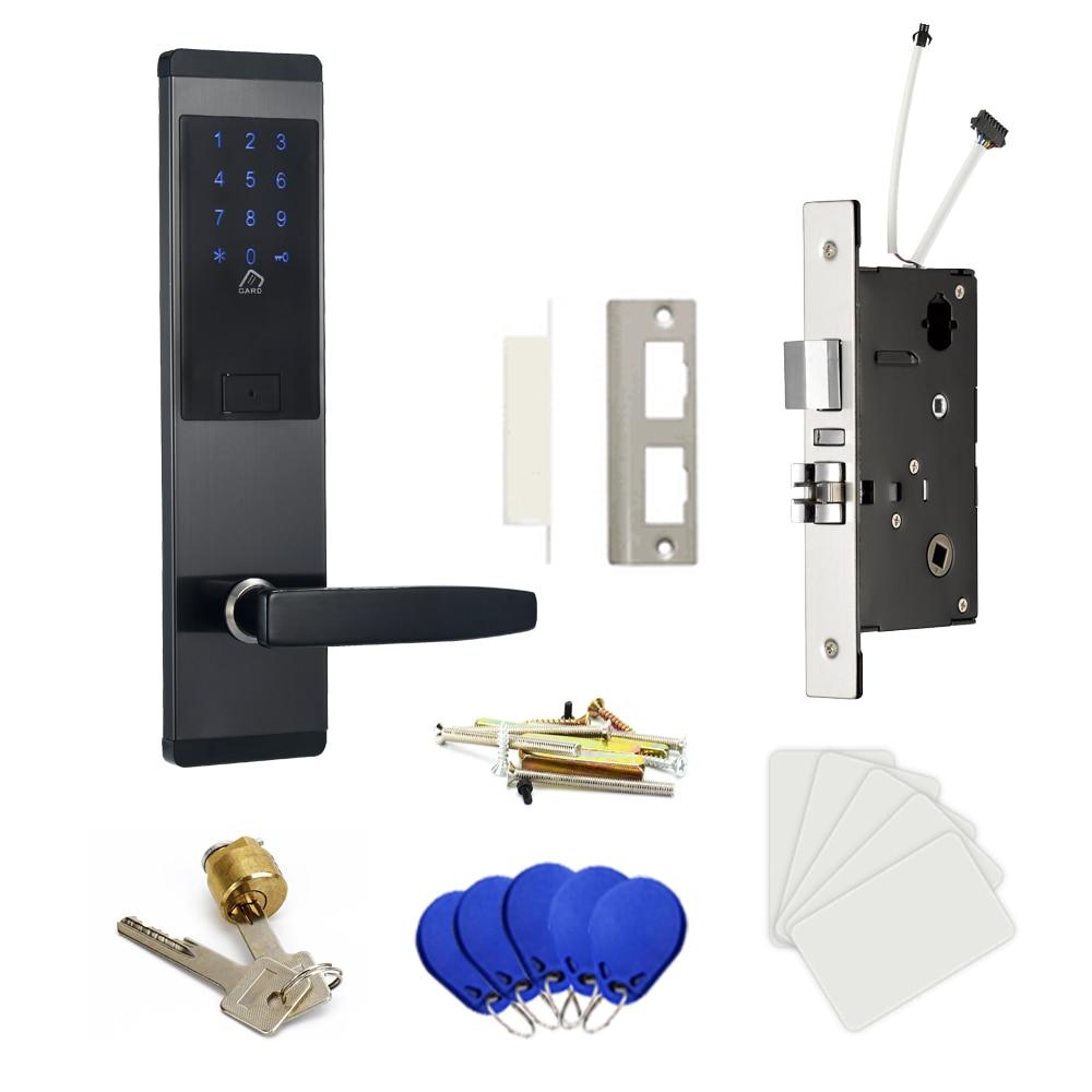 Hf01c5f470df44502bd8cafa98070c059D Security Electronic Digtial Lock, Keyless digital Safe Lock Door Smart Card Keypad Password Pin Code Door Lock for Smart Home