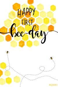 Image 2 - LEVOO 사진 배경 해피 첫 번째 꿀벌의 날 베이비 샤워 사진 배경 사진 스튜디오 촬영 소품 Photocall 비닐