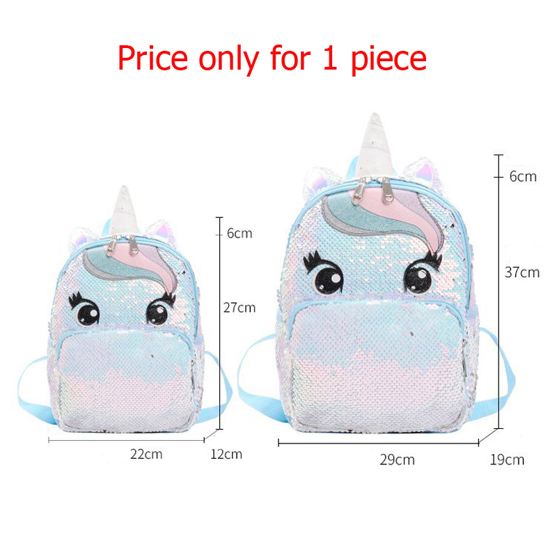 Image 2 - Unicorn Sequin Schoolbag Multi Color Kids School Bags for Girls Backpack Mochila Escolar Book School Bag for Teenager StudentSchool Bags   -