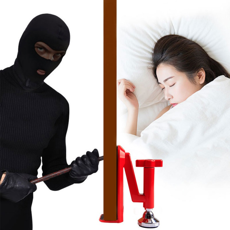 Draagbare Deurdranger Jammer Lockdown Lock-Beveiliging Apparaat Voor Reizen Hotel Deur Draagbare Beveiliging Apparaat Vrouwelijke Veiligheid