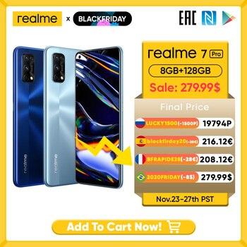 Realme 7 Pro Global Version Smartphone 65W Fast Charge Fingerprint Unlock Fullscreen MobilePhone Snapgragon 720G Game Cellphone