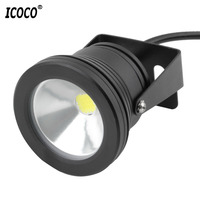 ICOCO 10W FÜHRTE Pool Licht Unterwasser Wasserdicht Lichter Spot Lampe 12V Outdoor Flutlicht IP68 für Teich aquarium|Scheinwerfer|Licht & Beleuchtung -