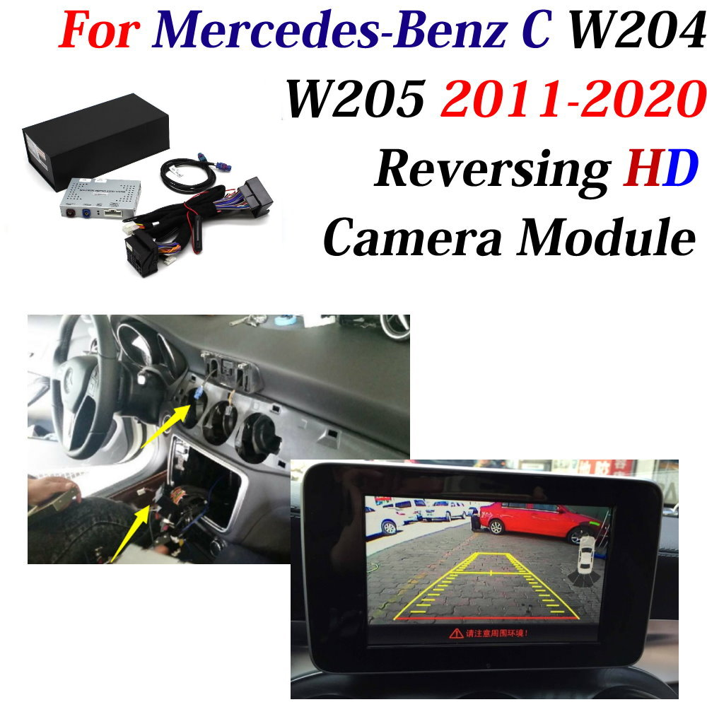 Car Rear Reverse Camera For Mercedes Benz C Class W204 W205 Reverse Parking Decoder Front Bakcup Rear camera Adapter Accesories