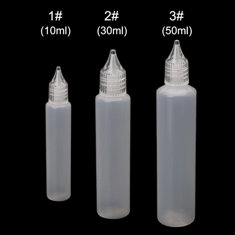 10/30/50ml E-Juice Oil Bottle Vape Drip Tip Clear Plastic Empty Liquid Dropper