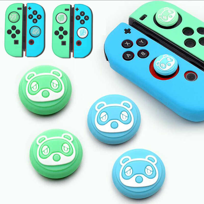 Thumb Stick Grip Tutup Animal Crossing Joystick Cover Kulit untuk Nintendo Switch NS Joy-Con Nintend Joycon Controller Silicone kasus