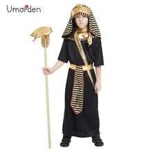 Umorden çocuk Purim Halloween King kostüm Fantasia en firavun Cosplay erkek çocuklar mısır geleneksel bezleri