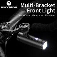 ROCKBROS bisiklet ön ışık su geçirmez kaldırma farlar çok tutucu bisiklet gidon ışık USB güçlü bisiklet flaş ışığı