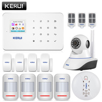 KERUI Wireless Home GSM Security Alarm System Security IP Camera Auto Dial Motion Detector Sensor Burglar Alarm System