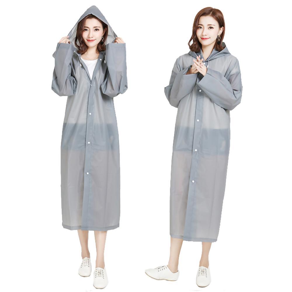 Fashion EVA Women Raincoat Thickened Waterproof Rain Poncho Coat Adult Outdoor Riding Tourist Electric Poncho Rainwear Suit
