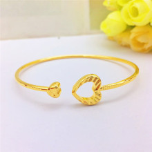 Classic Yellow Gold Women's Bracelet 14K Gold Heart-Shaped