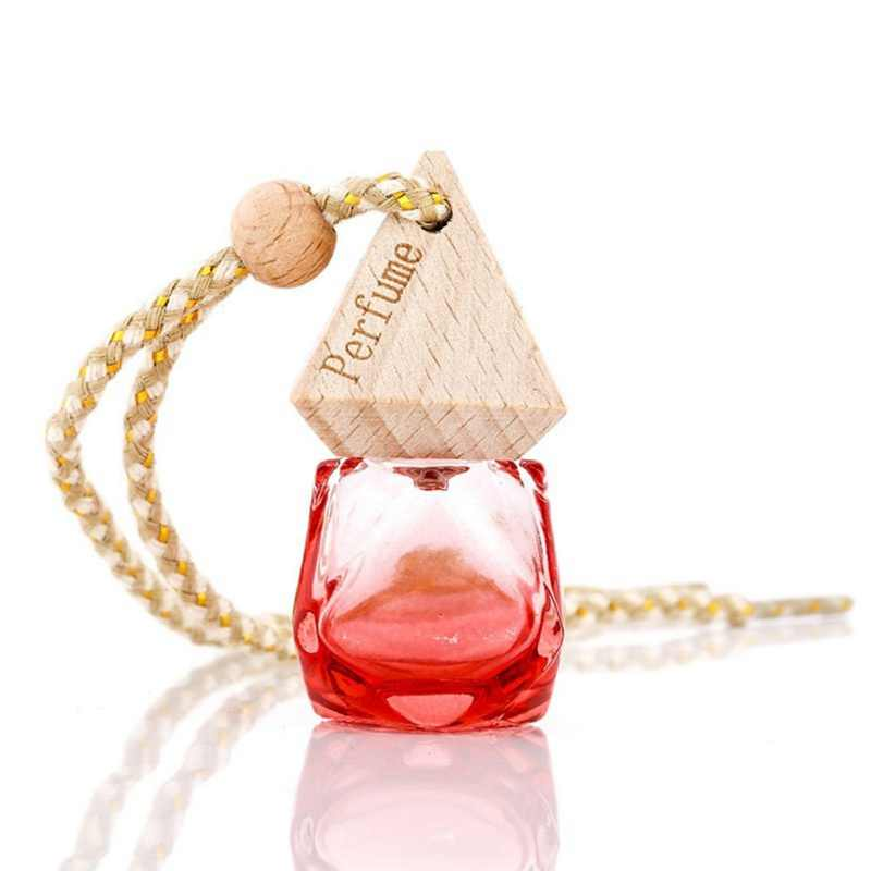 6ml voiture parfum vide bouteille en verre pour huiles essentielles désodorisant Auto ornement voiture-style parfum pendentif voiture accessoires