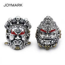 God of wealth 925 Sterling Thai Silver Ring Resizable Mens Retro High Quality Buddhist Religion Jewelry TSR103