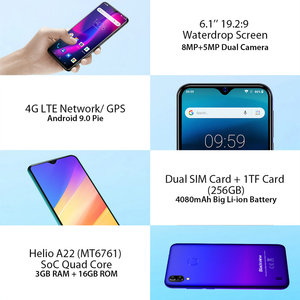 Image 3 - Blackview A60 Pro Original Smartphone 3GB+16GB MT6761V Cellphone Android 9.0 Waterdrop Screen 4080mAh Touch ID 4G Mobile Phone