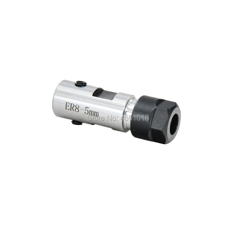 Купить с кэшбэком ER11 Collet Chuck Motor Shaft Extension Rod Spindle Collet Lathe Tools Holder Inner 5mm 6 7 8 10 For CNC Milling Boring Grinding