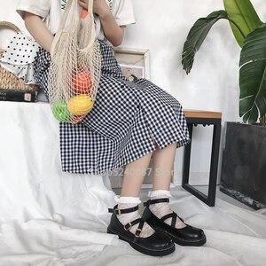 Image 2 - 일본식 로리타 카와이 여자 학교 신발 JK 유니폼 Cos 아카데미 벨트 버클 가죽 신발 공주 애니메이션 코스프레 Coatumes