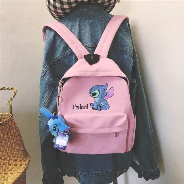 לילו תפר תרמיל נשים בד כתף תיק לנערות ילדים רב פונקציה קטן Bagpack נקבה גבירותיי בית ספר תרמיל