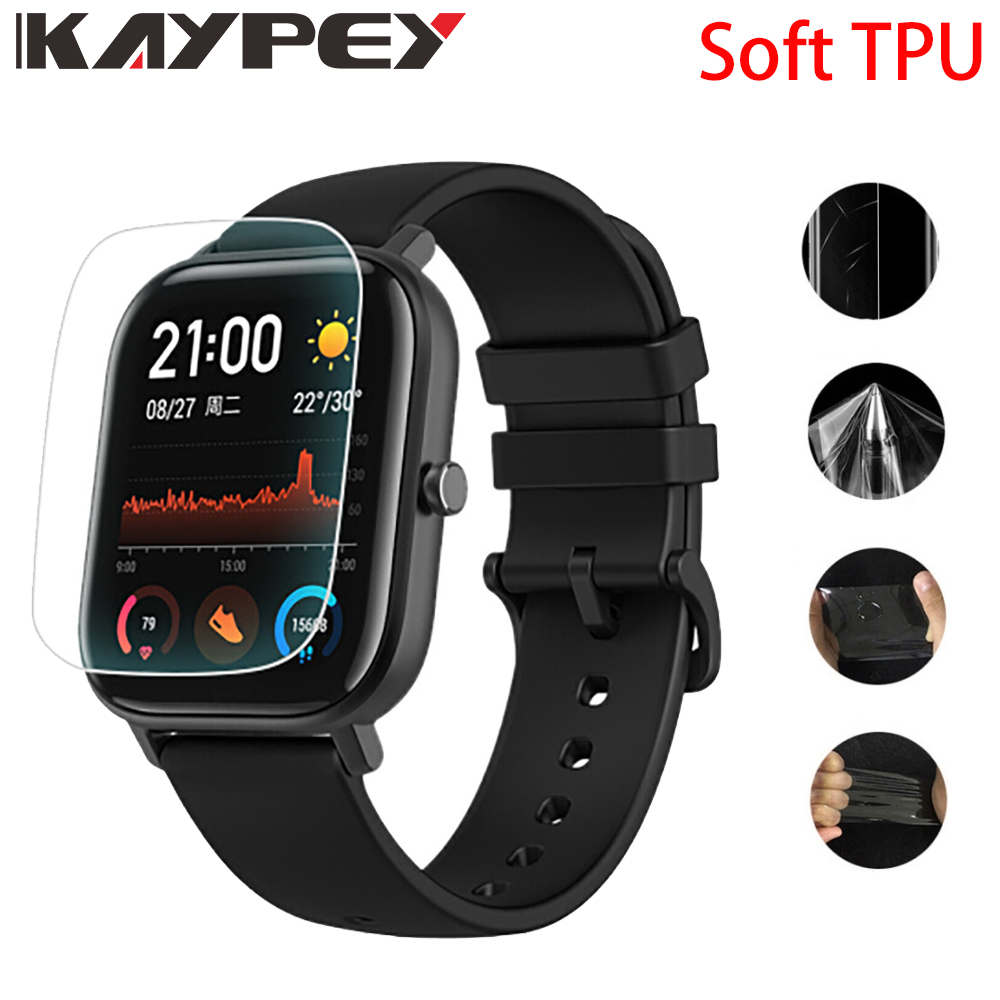 For Amazfit GTS Ultra Thin Antiexplosion TPU Screen Protector Film For Xiaomi Huami Amazfit GTS Smart Watch