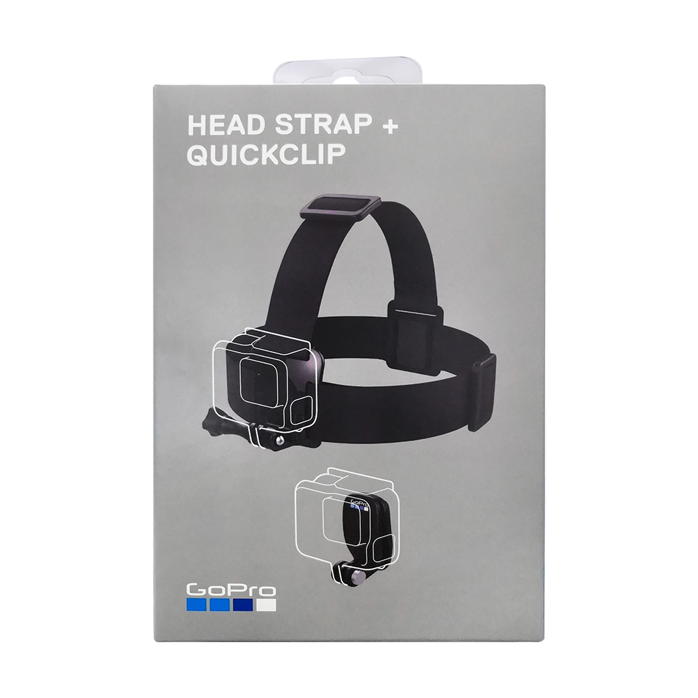 Gopro Head Strap + QuickClip ACHOM-001 (Official Mount) Original  Gopro Official Accessories 1