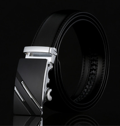 2019 Leather Quality Automatic Buckle Black Belts Cummerbunds Cinturon Hombre Men Belt Male Genuine Leather Strap Belts For Men