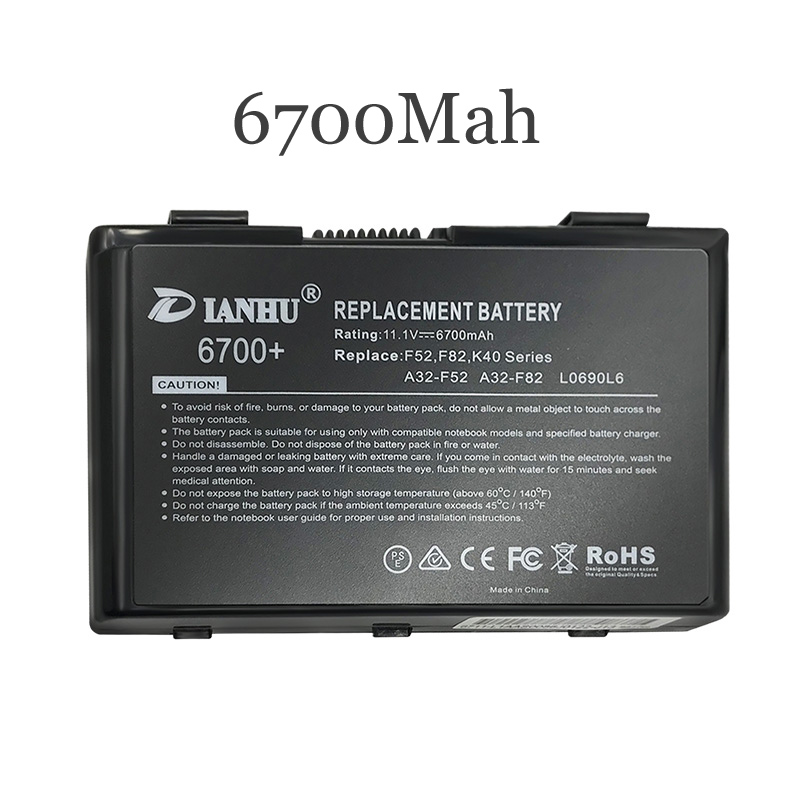 New Replacement Laptop <font><b>Battery</b></font> Internal For <font><b>Asus</b></font> A32-F82 K40AB A41i K40IJ K40IN K40AF K40A X5D/C X5DI K50IE <font><b>K501</b></font> X8AC K60 K50 image