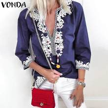VONDA Women Blouse Shirts 2020 Spring Su