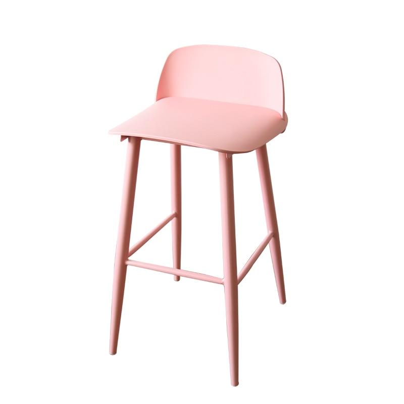 Bar Stool Nordic Modern Minimalist Solid Wood Personality Combination Creative Fashion High Chair High Stool Bar Stool Bar Stool