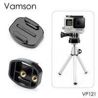 """Accessoires pour caméra Vamson fixation rapide de 1/4 """"à vis à Surface plate fixation sur trépied pour Gopro Hero 7 6 5 4 3 + pour Xiaomi VP121"""