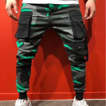 Pantalones Hombre Sport Slim Hip-hop nadruk kamuflaż męskie spodnie biegaczy mężczyźni Streetwear spodnie dresowe spodnie haremki Erkek Pantolon tanie i dobre opinie Mr nut Harem spodnie Mieszkanie Poliester COTTON Kieszenie REGULAR L3112 Na co dzień Midweight Suknem Pełnej długości