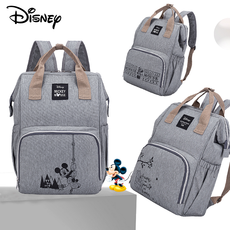 Disney Minnie Mickey Baby Bags For Mom Multifunctional Diaper Bag Backpack Maternity Baby In Diaper Bags Mummy Baby Stroller Bag