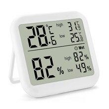 Новый цифровой термометр, гигрометр, сенсорный экран, измеритель температуры и влажности, монитор, максимальная Минимальная запись для дом...