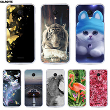 CALROVTE Case For Meizu C9 Wolf Silicon TPU Cover for Meizu C9 Cat Animal Shell