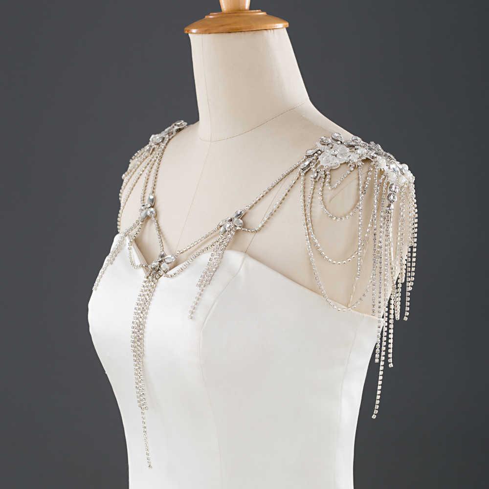 TRiXY G11 פרח חתונה נוצצת שמלת כלה לעטוף אלגנטי צעיף חתונת קייפ נשים אירוע מיוחד צעיף הכלה קייפ