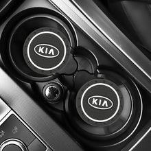 Accesorios antideslizantes para coche KIA sportage ceed kia sorento, accesorios con ranura para tazas de agua, 2 uds.